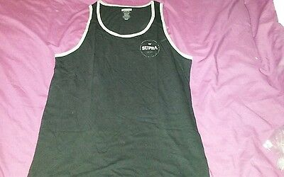 supra vest top black gym top medium