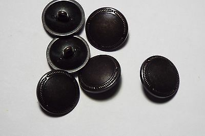 8pc 20mm Black Metal With Copper Beading Shirt Blazer Coat Cardigan Button 2776