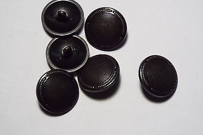 10pc 15mm Black Metal With Copper Beading Shirt Blazer Coat Cardigan Button 2777