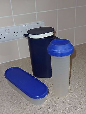 Tupperware Blue Collection 3 Items in total.