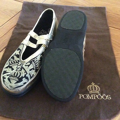 Pompoos Gold and Black shoes