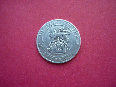 George V Silver Sixpence 1912