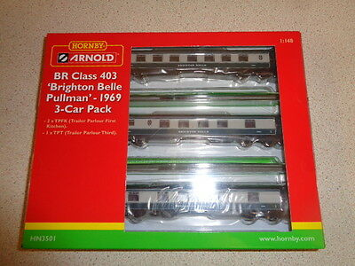 N Gauge Hornby / Arnold Class 403 Brighton Belle Pullman 3-Car Coach Pack ..#50#