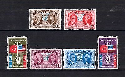 1939 Stamps of Turkey full set USA constitution MH