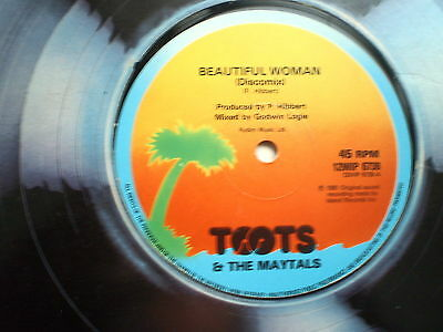 """REGGAE - TOOTS & The MAYTALS - Beautiful Woman - 12"""" Single-1981-NM"""