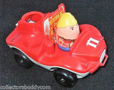 VINTAGE c1970s WEEBLES FIRE ENGINE AND FIREMAN FIGURE (BY AIRFIX?)