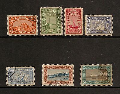 1917 Stamps of Turkey used part set