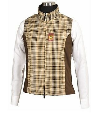BAKER Ladies Select Vest Baker Plaid Chocolate Extra Small
