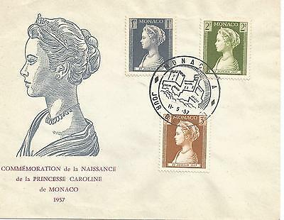 Monaco 1957 Birth Of Princess Caroline First Day Cover Ref 537
