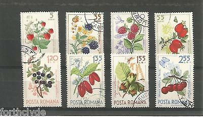 Romania 1964 Forest Fruits Used Set Of Eight  Sg 3229-36  Ref 844