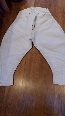 Antique Vintage Original Jodhpurs Trousers Breeches Hunting Equestrian White