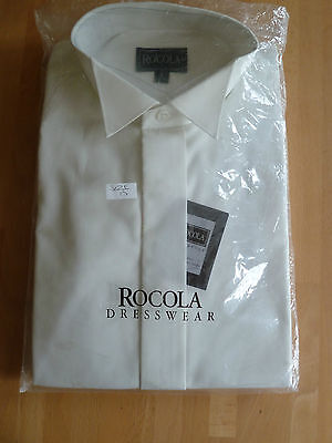 BN Rocola Cream Wing Collar Dress Shirt  15""
