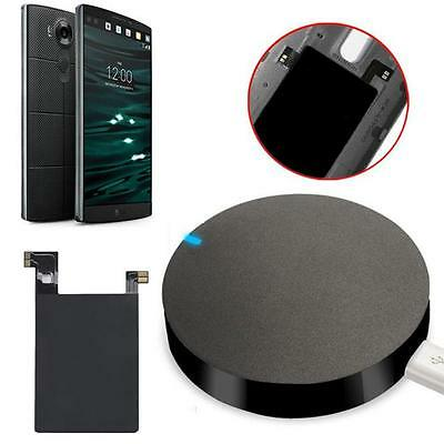 V10 Qi Wireless Charger Charging Pad + Receiver Sticker Support NFC For LG Hot