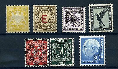 Germany mint seledction of better items. Heuss MNH others MH and fine