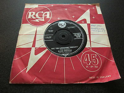 """ELVIS PRESLEY ARE YOU LONESOME TONIGHT RCA VICTOR UK 7"""" 45 SINGLE ROCK n ROLL"""
