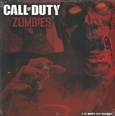 Call of Duty Zombies 2017 16 Month Wall Calendar Brand New In Shrinkwrap
