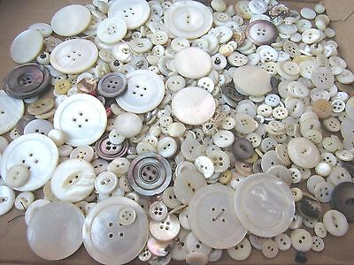 1 Pound Lot Of Mop Buttons Vintage  Sewing Craft Buttons