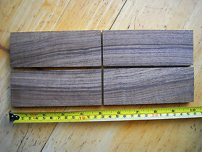 2 pairs of bookmatched English Walnut knife scales.