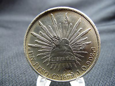 1899 Mexican Peso 8 Reales (8R) Cn JQ 360 degree DIE CRACK, LARGE CHOPMARKS!
