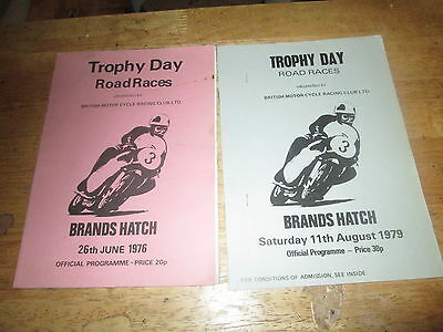 2 Trophy Day Road Races Brands Hatch June/august 1976/9  Official Programmes