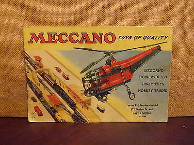 Meccano Catalogue ..1956..includes Hornby Dublo/dinky Toys..+ Price List