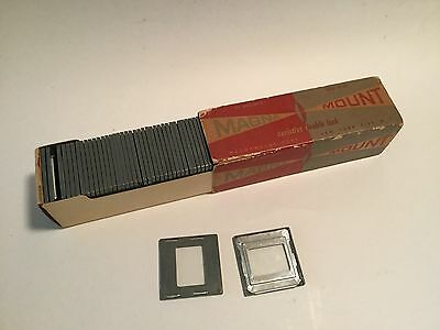 "Vintage Magna Mount Glass Slide Mounts  2x2"" Exclusive Double Lock Made in USA"