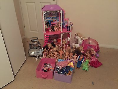 Barbie House, Dolls And Accessories