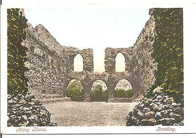 Lovely Early Vintage Postcard,abbey Ruins,reading,berkshire