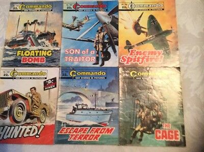 6 Commando Comics In The 1900's