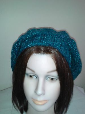 Hand Knitted Womans/ Ladies Winter Fashion Hat Slouchy Beret Beanie  Size M