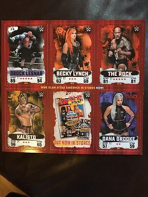 WWE Slam Attax Takeover Trading Cards