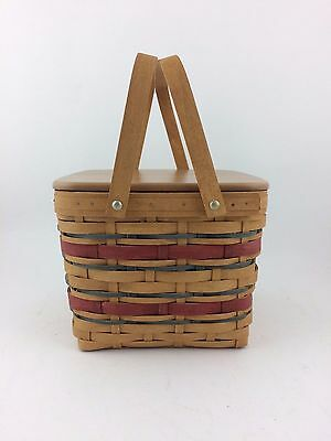 Longaberger 2007 Picnic Tote Basket w Riser, Protector and Lid
