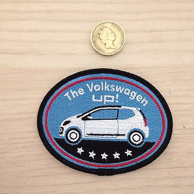 VW Rare Volkswagen Up Sew On Motif Top Gear, Cars COLLECTABLE