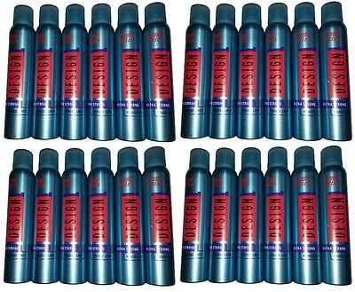 24x Wella DESIGN Ultra Strong Mousse Lack je 200ml