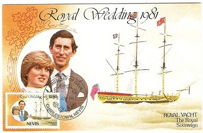 Royal Wedding 1981 23th June Charlestown, Nevis. Royal yacht Sovereign First Day