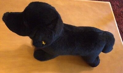 "Stieff Black Labrador Dog Plush 13"" (See Description)"
