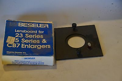 Beseler 45 and 23C lens board new, 39mm with pilot