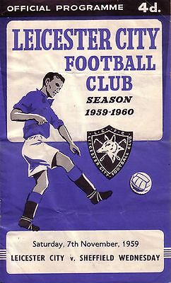 LEICESTER v SHEFFIELD WEDNESDAY 1959/60 DIVISION 1