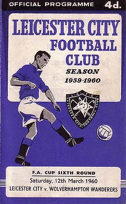 LEICESTER v WOLVES 1959/60 FA CUP 6TH ROUND