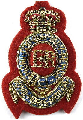 Royal Horse Artillery Officers Bullion Wire Cap Badge
