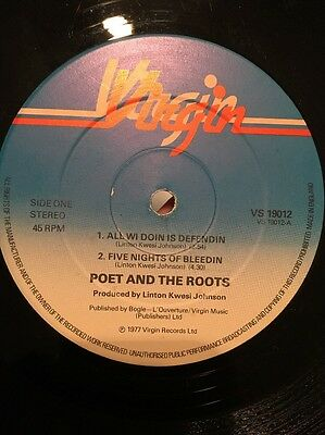 """Poet and roots All wi doin is defendin 12"""" percent roots dub vinyl"""