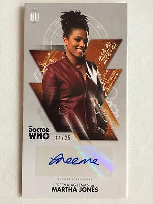 DOCTOR WHO - Topps Autograph - FREEMA AGYEMAN as Martha Jones - 14/25 Widevision