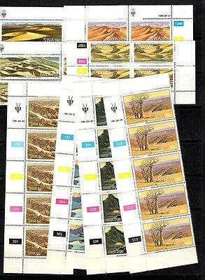 South West Africa   - 2 sets  - strip of 5   / blocks of 4 - MNH