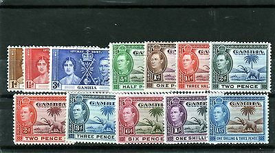 GAMBIA KG6 selection good-fine mint/MH as scan