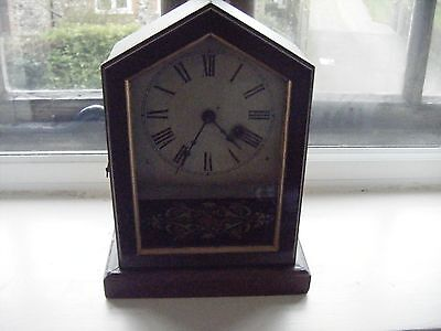 BEAUTIFUL ANTIQUE  GERMAN ARCH MANTLE CLOCK CIRCA 1860/ 80s