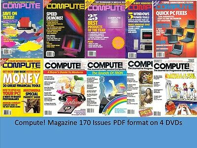Compute! Magazine 170 Issues PDF on 4 DVDs