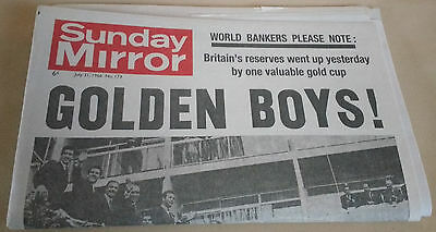 1966 World Cup Sunday Mirror ( July 31st 1966)