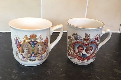 Two Royal Family Collectable Cups - King George V And Prince Charles