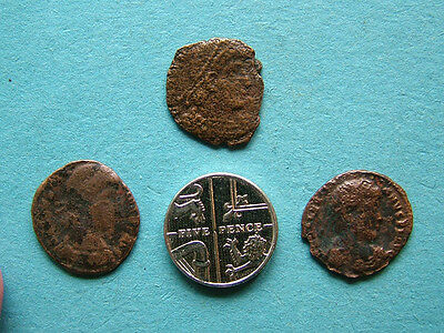 3 Roman coins, unresearched, all with some nice detail.