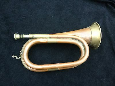 Vintage Military Copper And Brass Bugle Real Been There Item